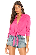 by the way. Carrie Button Up Blouse in Hot Pink