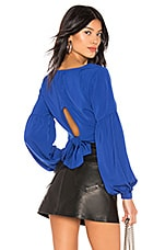 by the way. Yasmin Tie Back Crop Top in Cobalt Blue