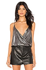 by the way. Veronica Pleated Cami Top in Silver