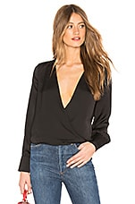 superdown Milly Cross Front Blouse in Black