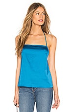 by the way. Brenna Satin Halter Top in Teal