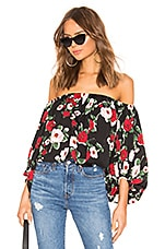 by the way. Shelia Off Shoulder Top in Black Floral