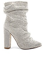 superdown Crystal Chainmail Bootie in Silver
