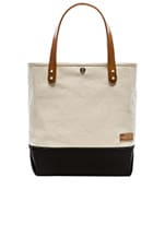 Short Collar Leather Tote in Black