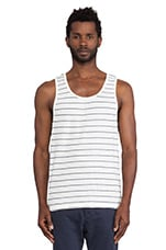 Tank Top in White & Navy