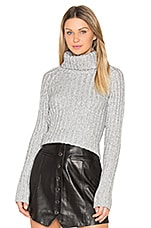 Rib Turtleneck Sweater in Ash Twist
