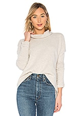 SWTR The Draped Mock Neck Sweater in Glacier