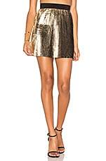 By Johnny Foil Fringe Skirt in Gold Black