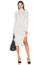 Turtleneck Sweater Dress in Heather Grey