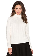 cacharel Turtleneck Sweater in Ivory