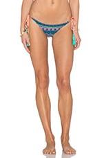 Embellished Side Tie Bikini Bottom in Tribal