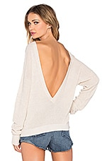 Callahan Deep V Back Sweater in Cream