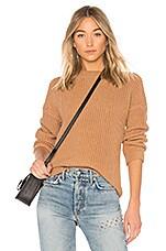 Callahan Shaker Boyfriend Sweater in Camel