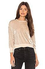 Callahan Velvet Sweater in Creme
