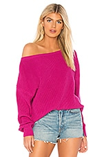 Callahan X REVOLVE Shaker Knit Off Shoulder Sweater in Fuchsia