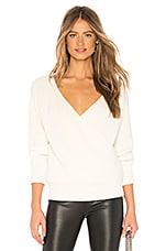 Callahan Agnes Wrap Sweater in Bland De Blanc