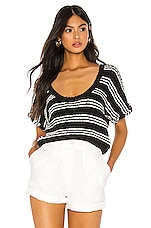 Callahan Taylor Knit Top in Black & White