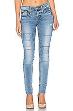Get Down On It Jean in Rebel Blue Patched