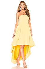 C/MEO Entice Strapless Gown in Honey