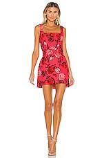 C/MEO Variation Mini Dress in Hot Pink Rose
