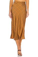 C/MEO No Time Skirt in Copper Check