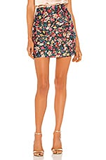 C/MEO And Ever More Skirt in Black Garden Floral