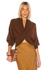 C/MEO As We Went Knit Blouse in Brown