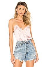 CAMI NYC The Racer Charmeuse Cami in Lotus Floral