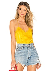 CAMI NYC The Racer Charmeuse Cami in Marigold