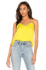 CAMI NYC The Racer Charmeuse Cami in Pina Colada