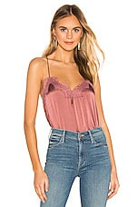 CAMI NYC The Racer Charmeuse Cami in Plum