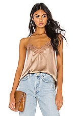 CAMI NYC The Racer Charmeuse Cami in Latte