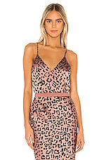 CAMI NYC The Olivia Cami in Graphic Leopard