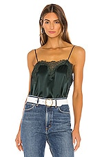 CAMI NYC The Sweetheart Charmeuse Cami in Hunter