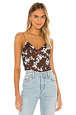 CAMI NYC The Raine Georgette Cami in Bovine