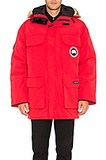 Expedition Coyote Fur Trim Parka en Rouge