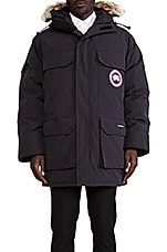 Expedition Coyote Fur Trim Parka en Marine