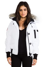 Chilliwack Bomber with Coyote Fur Collar en Blanc