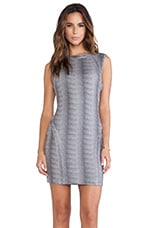 Bodycon Dress in Grey Micro Animal Print