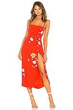 Capulet Janette Midi Dress in Red Floral