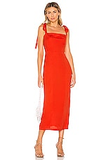 Capulet Camille Midi Dress in Tangerine