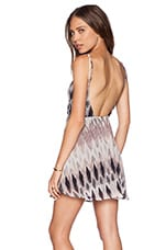 Scoop Back Dress in Rose Ikat