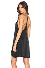 Capulet Y-Back Mini Dress in Black