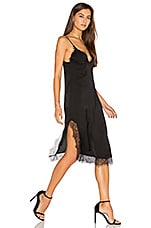 Parlour Lace Slip Dress in Black
