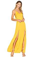 Capulet Gina Plunging Maxi Dress in Goldenrod