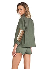 Embellished Military Jacket in Olive