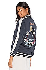 Mai Tai Bomber Jacket in Navy & Oyster