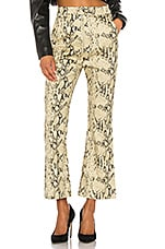 Capulet Graham Kick Flare Pants in Python Denim