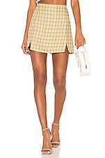 Capulet Rosa Mini Skirt in Yellow Plaid