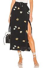 Capulet Devin Belted Skirt in Daisy Print